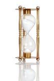 Hourglass de bronze velho fotografia de stock royalty free