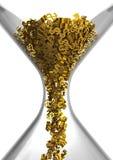 Hourglass der Dollar lizenzfreie abbildung