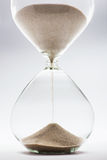 Hourglass. Detail on white background Royalty Free Stock Images