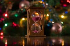 Hourglass dla nowego roku Fotografia Royalty Free