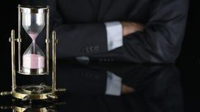 hourglass do czasu pracy biznesowego mężczyzna kostium zbiory