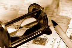 Hourglass do vintage imagens de stock royalty free