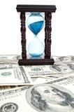 hourglass dolars Стоковые Фотографии RF