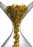 Hourglass of Dollars. Dollar symbols falling in a hourglass Stock Image