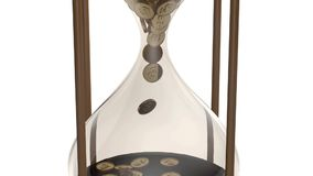 Hourglass with dollars in the details - live stock footage