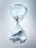 Hourglass with dripping water close-up stock image