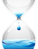 Hourglass with dripping water Royalty Free Stock Images