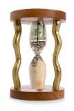 Hourglass e crise financeira imagem de stock