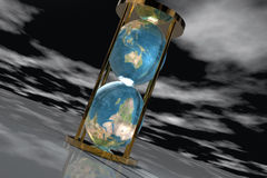 Hourglass-Earth1 Stock Photo