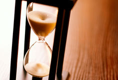 Hourglass or egg timer with running sand Royalty Free Stock Photos