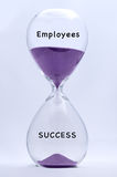 Hourglass Employees and Success Stock Image