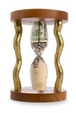 Hourglass and financial crisis Stock Image