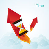 Hourglass firework and time design. Hourglass and firework icon. Time instrument and tool theme. Colorful design. Vector illustration Royalty Free Stock Photo