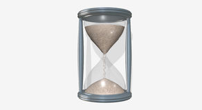 Hourglass friendly Royalty Free Stock Image