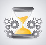 Hourglass and gears design Royalty Free Stock Image
