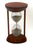 Hourglass getrennt auf einem weißen Hintergrund lizenzfreies stockfoto