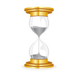 Hourglass golden Royalty Free Stock Photography
