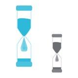 hourglass Gota da água do logotipo Imagens de Stock