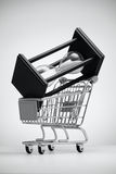 Hourglass in grocery cart Stock Photography