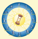 Hourglass hours Stock Photography