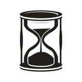 Hourglass icon. Black hourglass icon isolated on white background vector illustration
