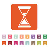 The hourglass icon. Clock symbol. Flat Royalty Free Stock Photography