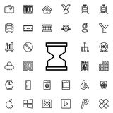 hourglass icon. Detailed set of minimalistic line icons. Premium graphic design. One of the collection icons for websites, web des vector illustration