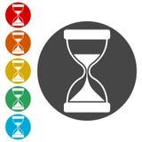Hourglass icon, Sand clock illustration. Simple icons set royalty free illustration