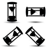 Hourglass icon set Stock Photos