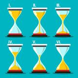 Hourglass Icons Set. Hourglass Icon. Vector Sand Clocks Set. Sandglass Symbol Royalty Free Illustration