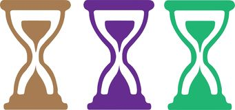 Hourglass icon on white background vector illustration