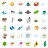 Hourglass icons set, isometric style Royalty Free Stock Photos