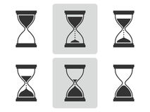 Hourglass icons set. Vector  illustration. Royalty Free Stock Photography