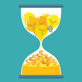 Hourglass idea for money Royalty Free Stock Image