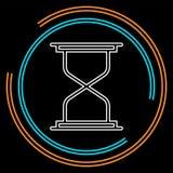Hourglass ikona, piaska czasu zegar ilustracji