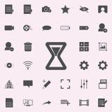Hourglass ikona sieci ikon ogólnoludzki ustawiający dla sieci i wiszącej ozdoby royalty ilustracja