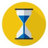 Hourglass ikony płaski projekt Ilustracji