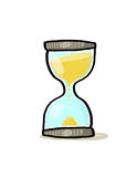 Hourglass illustration; Sand glass cartoon. Time concept Royalty Free Stock Images