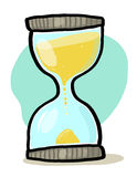 Hourglass illustration. Sand glass cartoon; Time concept Royalty Free Stock Image