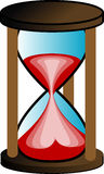 Hourglass illustration. Illustration of a hourglass, isolated Royalty Free Stock Photos