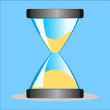 Hourglass. Illustration isolated on blue background Stock Photography
