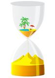 Hourglass. The inevitable time. Stock Photo