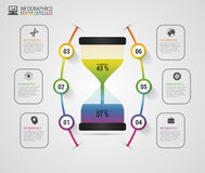 Hourglass. Infographics design template. Modern business concept. Vector illustration Stock Photography