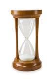 Hourglass isolado em um backgrond branco fotografia de stock royalty free