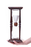 Hourglass isolado no branco foto de stock