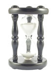 Hourglass isolado no branco fotos de stock