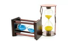 Hourglass isolado no fundo branco foto de stock