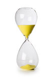 Hourglass isolated. Time sand yellow Royalty Free Stock Image