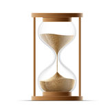 Hourglass isolated on white background. Stock Photos