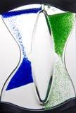 Hourglass líquido fotos de stock